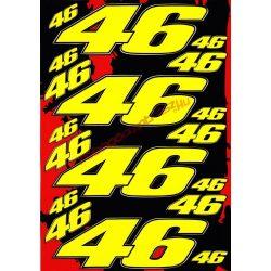Matrica szett, Rossi 46, Sárga