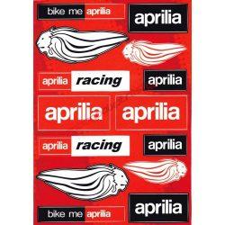 Matrica szett, Aprilia Racing, Piros