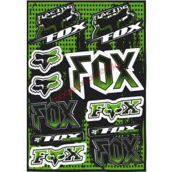 Matrica szett, Fox Racing, Zöld