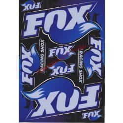 Matrica szett, Fox Racing, Kék, A5