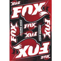 Matrica szett, Fox Racing, Piros, A5