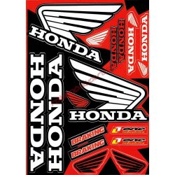 Matrica szett, Honda, Fekete