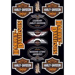 Matrica szett, Harley Davidson