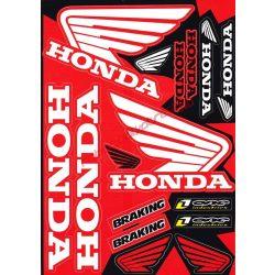 Matrica szett, Honda, Piros