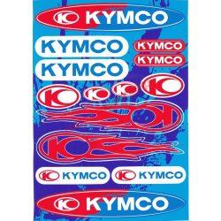 Matrica szett, Kymco, Fehér