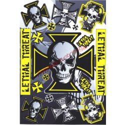Matrica szett, Lethal Threat, Sárga, A5