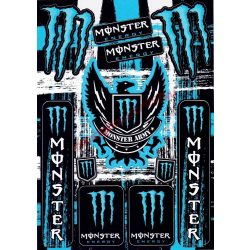 Matrica szett, Monster Army, Kék