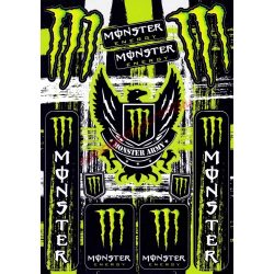 Matrica szett, Monster Army, Zöld