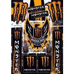 Matrica szett, Monster Army, Narancs