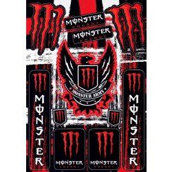 Matrica szett, Monster Army, Piros