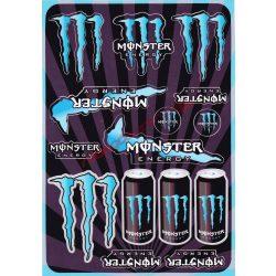 Matrica szett, Monster Energy, Kék