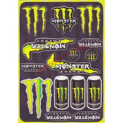 Matrica szett, Monster Energy, Zöld