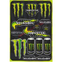Matrica szett, Monster Energy, Zöld , A5