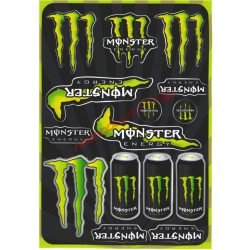 Matrica szett, Monster Energy, Zöld , A5