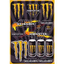 Matrica szett, Monster Energy, Narancs