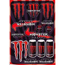 Matrica szett, Monster Energy, Piros