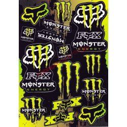 Matrica szett, Monster Fox, Zöld