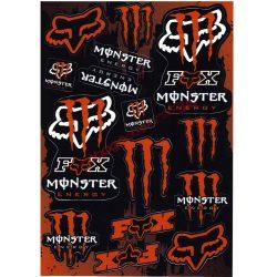 Matrica szett, Monster Fox, Narancs