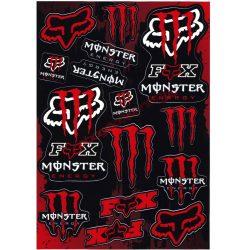 Matrica szett, Monster Fox, Piros