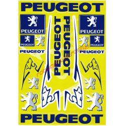 Matrica szett, Peugeot sárga