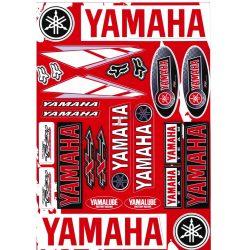 Matrica szett, Yamaha, Piros